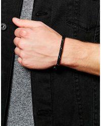 Mister - Metallic Cord Bracelet for Men - Lyst