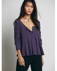 Free People | Gray Wtf Cecilia Tee | Lyst