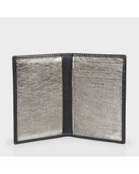 Paul Smith - Men's Black Leather Metallic Interior Credit Card Wallet for Men - Lyst