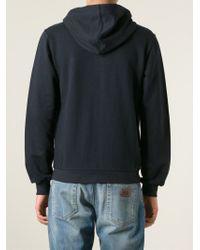 Dolce & Gabbana - Blue Zip Hoodie for Men - Lyst