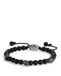 David Yurman | Spiritual Beads Skull Bracelet With Black Onyx for Men | Lyst