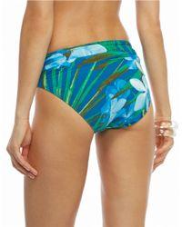 Carmen Marc Valvo - Blue Tropical Banded Swim Bottom - Lyst