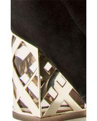 Burberry - Black Kidskin Cranleight Over-the-knee Boot - Lyst