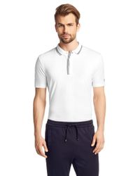 BOSS Green - White Regular-fit Golf Polo Shirt In Stretch Cotton: 'pasey' for Men - Lyst