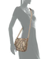 Stella McCartney - Brown Snake-Print Crossbody Bag - Lyst