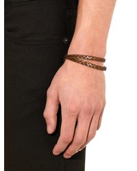 Tod's | Brown Woven Bracelet for Men | Lyst