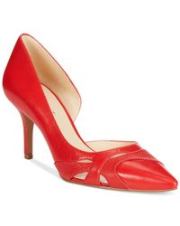 Nine West - Red Kismet Mid-Heel Pumps - Lyst