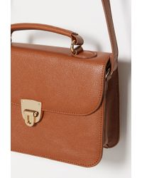 Forever 21 - Brown Faux Leather Mini Satchel - Lyst