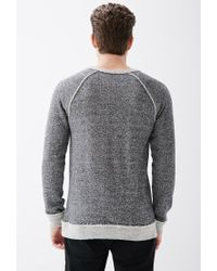 Forever 21 - Gray Reverse-paneled French Terry Sweatshirt for Men - Lyst