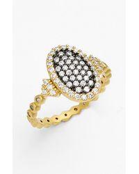 Freida Rothman | Metallic 'metropolitan' Pave Oval Ring | Lyst