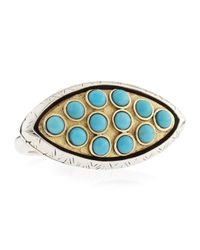 Konstantino - Blue Bezel-Set Turquoise Ring - Lyst