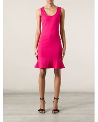 Emporio Armani - Pink Sleeveless Dress - Lyst