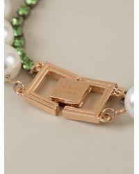 Mawi | Green Embellished Bib Necklace | Lyst
