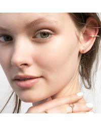 Astrid & Miyu | Pink Thin Line Pearl Ear Cuff Rose Gold | Lyst