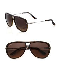 Ferragamo | Brown 60mm Gladiator Aviator Sunglasses for Men | Lyst