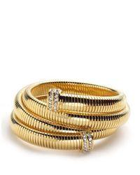 ABS By Allen Schwartz | Metallic Coil Bracelet | Lyst