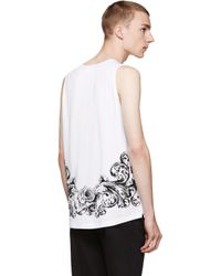 Dolce & Gabbana - White Bee And Crown Print Tank Top for Men - Lyst