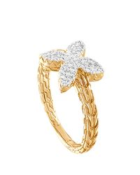 John Hardy - Metallic Kawung 18K Diamond Ring - Lyst