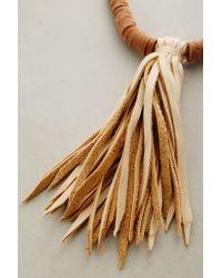 Matthew Addonizio | Brown Leather Tassel Necklace | Lyst