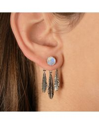 Pamela Love | Metallic Exclusive Frida Ear Jacket In Sterling Silver With Moonstone | Lyst