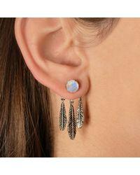 Pamela Love | Metallic Exclusive Frida Ear Jacket In Sterling Silver With Moonstone | Lyst
