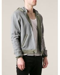 Golden Goose Deluxe Brand | Gray Bicolour Hoodie for Men | Lyst