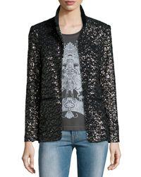 Zadig & Voltaire - Black Volly Sequin Deluxe Jacket - Lyst