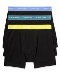 Calvin Klein | Black Classic Boxer Briefs, Pack Of 3 for Men | Lyst