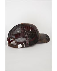 True Religion | Brown Printed Leather Baseball Cap for Men | Lyst