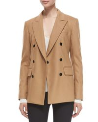 Rag & Bone - Natural Corin Double-breasted Wool-blend Blazer - Lyst