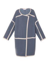 Chloé | Blue Contrast-Trim Cashmere Jacket | Lyst