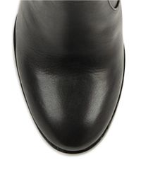 Calvin Klein - Black Karlia Leather Ankle Boots - Lyst