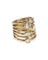 Melinda Maria | Metallic Stacked Monroe Ring | Lyst