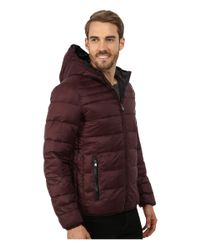 Perry Ellis | Purple Nylon Hooded Puffer for Men | Lyst