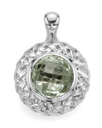 Slane - Metallic Green Amethyst Basketweave Enhancer - Lyst