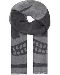 Alexander McQueen | Gray Large Skull Wool Scarf for Men | Lyst