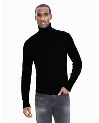 Banana Republic | Black Extra-fine Merino Wool Sweater Turtleneck for Men | Lyst