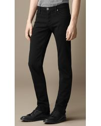 Burberry - Steadman Black Slim Fit Jeans for Men - Lyst