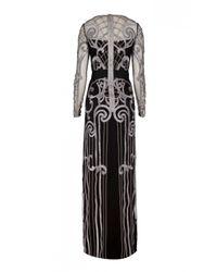 Temperley London - Gray Long Catroux Dress - Lyst