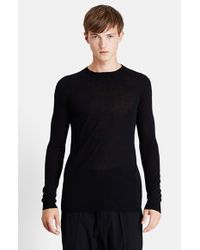 Rick Owens | Black 'level' Wool Crewneck Sweater for Men | Lyst
