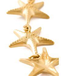 Valentino - Metallic Sea Star Necklace - Lyst