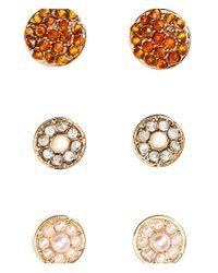 H&M - Metallic 4 Pairs Earrings - Lyst