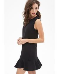 Forever 21 - Black Drop-waist Crepe Dress You've Been Added To The Waitlist - Lyst