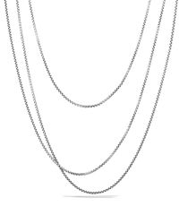 David Yurman | Metallic Small Box Chain With Gold, 72"