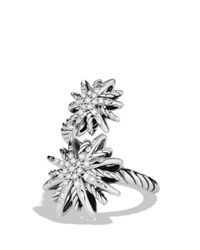 David Yurman - Metallic Starburst Open Ring With Diamonds - Lyst