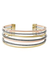Michael Kors | Metallic Tri Tone Statement Cuff | Lyst