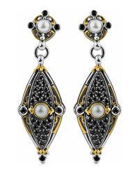 Konstantino | Metallic 18k & Sterling Silver Spinel & Pearl Dangle Earrings | Lyst