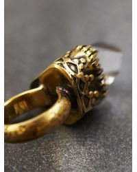 Free People - Metallic Break A Stone Womens Gold Crown Ring - Lyst