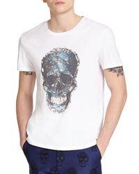 Alexander McQueen - White Skull Print Cotton Tee for Men - Lyst