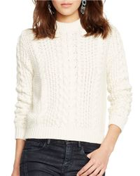 Polo Ralph Lauren | Natural Cable-knit Cotton Sweater | Lyst